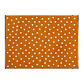 Lorena Canals Dots Orange Children's Rug - 120 cm x 160 cm (4 ft x 5 ft)
