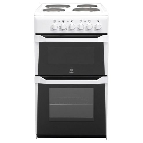 Indesit IT50E(W)S White Electric Cooker, Twin Cavity, Single Oven