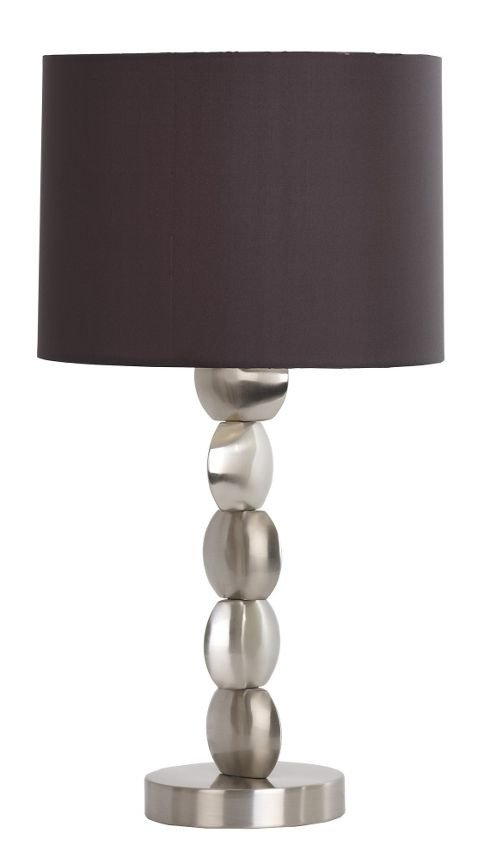 Endon Lighting One Light Table Lamp in Satin Nickel