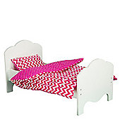 "Olivia's Little World - Little Princess 18"" Doll Furniture - Bedding - Modern Chevron"
