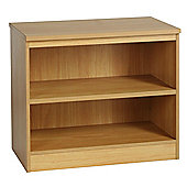 Enduro Two Shelf Wide Bookcase - Classic Oak