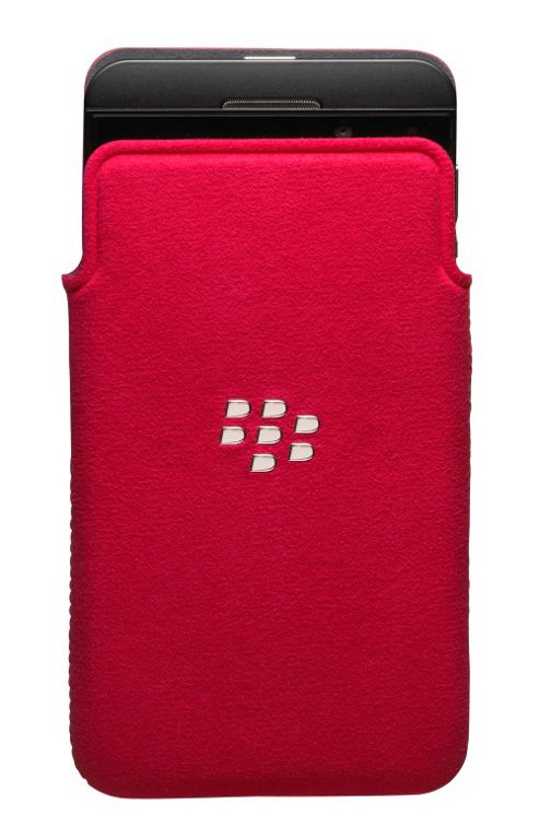 BlackBerry Microfibre Smartphone Pocket for BlackBerry Z10 - Red