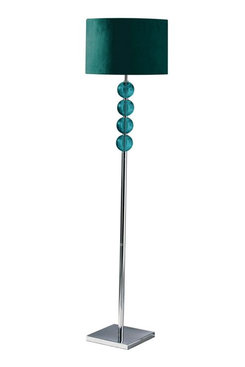 Buy Premier Housewares Mistro Floor Lamp Teal From Our Floor Lamps Range