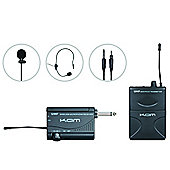 KAM KWM1900 UHF Headset and Tie Clip Radio Mic Kit