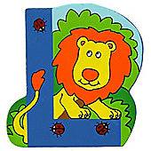 Bigjigs Toys BJL212 Wooden Magnetic Animal Letter Uppercase L (Designs Vary)