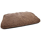 P & L Superior Pet Beds Machine Washable Sherpa Fleece Duvet Pet Bed - Brown Fleck - Medium (11cm H x 70cm W x 105cm D)