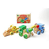 Traditional Wood 'n' Fun Construction Truck Yellow Digger 12m+