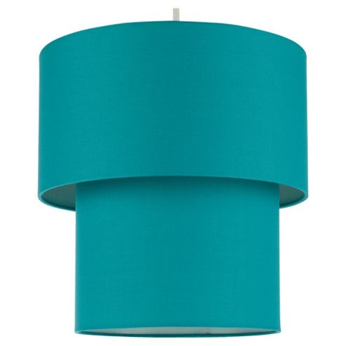Tesco Lighting Double Drum Shade, Steal