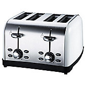 Tesco 4 Slice SS colour Toaster - White