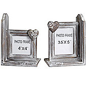 Driftwood Effect Photo Frame Bookends - Set of Two