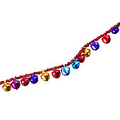 Multi-coloured Cluster Jingle Bell Garland Christmas Decoration