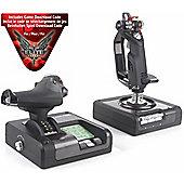 Saitek X52 Pro Flight Control System (Joystick/Throttle) Includes Elite Dangerous Game Code PS34