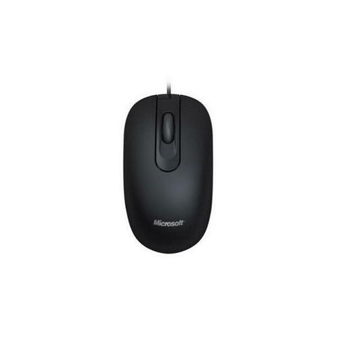 Microsoft 200 Mouse - Optical - Wired - 3 Button(s) - Black - USB - 1000 dpi - Scroll Wheel - Symmetrical