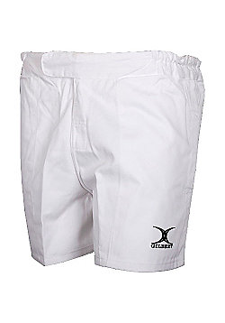 Gilbert Swift White Rugby Shorts - White