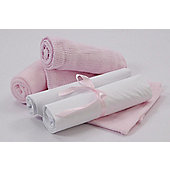 Clair De Lune Cot 4-Piece Gift Set in Pink