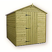 12ft x 6ft Premier Windowless Pressure Treated T&G Single Door Apex Shed + Higher Eaves & Ridge Height