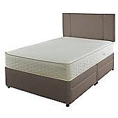 Slumberland Double Divan Bed - 700 Pocketflex, 2 Drawer, Mocha