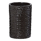 Biba Glass Croc Tumbler In Black