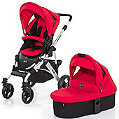 ABC Design Mamba 3 in 1 Pushchair & Carrycot (Silver/Cranberry)