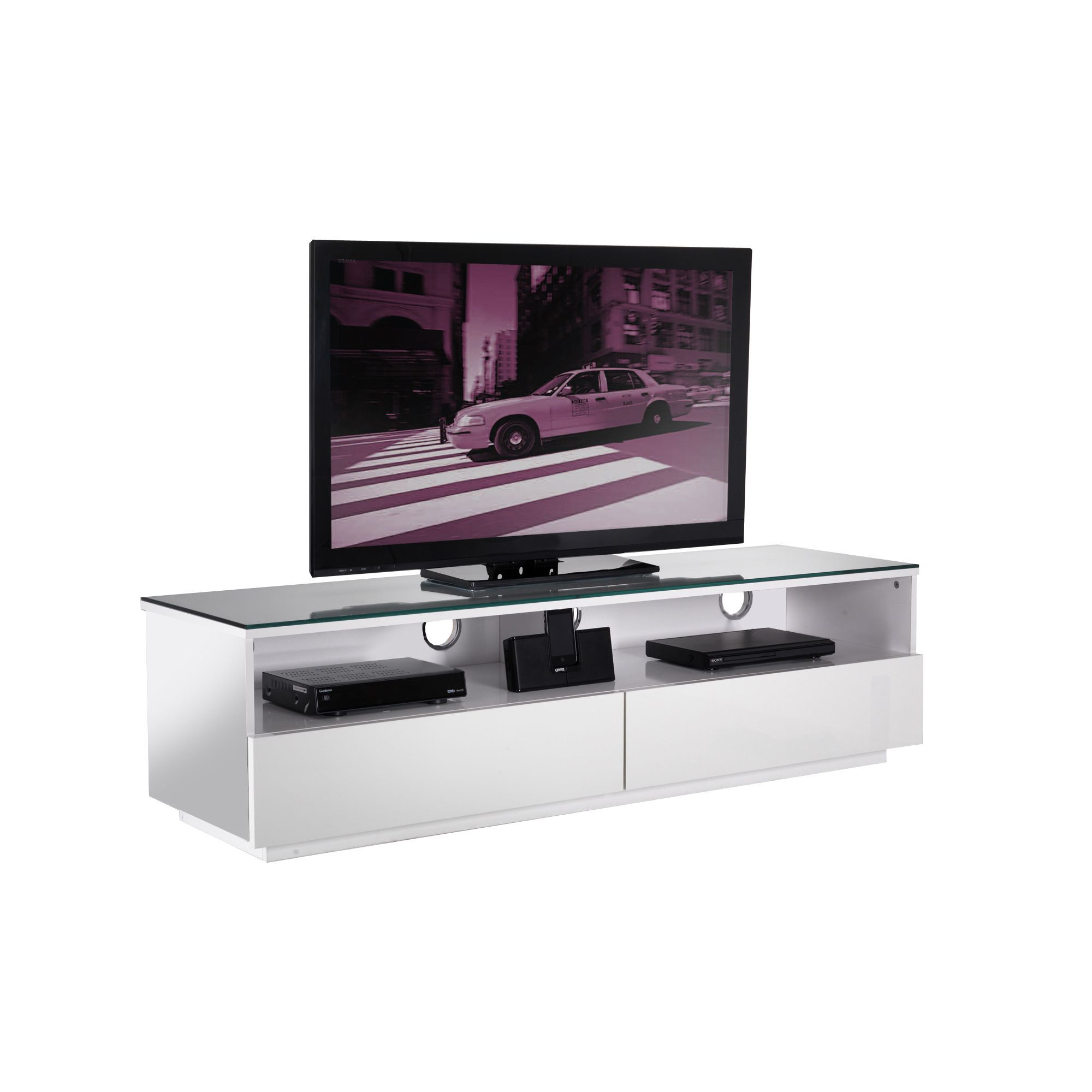 UK-CF City Scape New York 60'' TV Stand - White at Tesco Direct