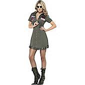 Ladies' Top Gun Deluxe Costume Medium