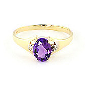 QP Jewellers Diamond & Amethyst Oval Desire Ring in 14K Gold