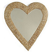 Papa Theo Queen of Hearts Mirror - Natural Limed