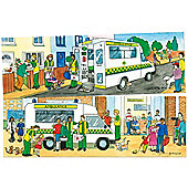 Bigjigs Toys BJ055 Duo Puzzle Ambulance