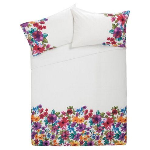 Tesco F&F Angelina Floral Kingsize size Duvet Cover Set