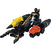 Power Rangers Megaforce Land Brothers Zord Vehicle with Black Ranger