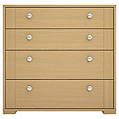 Modular Oak 4 Drawer Chest With Oak Shaker Drawers
