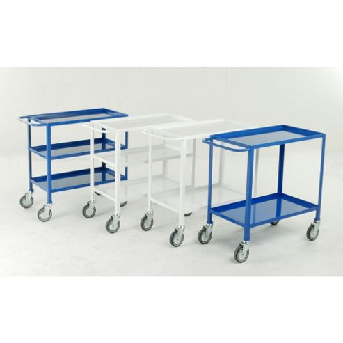 2 Tier tray trolley - White epoxy