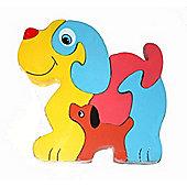 Traditional Wood 'n' Fun Animal Puzzles - Ackerman Toys Dog 12m+