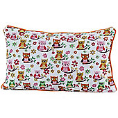 Homescapes Cotton Owls Scatter Cushion, 30 x 50 cm