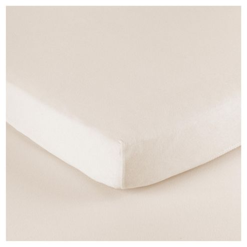 Tesco Loves Baby Cot Jersey Fitted sheet 2 pack cream