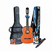 Ashton SPCG44AM Classical Guitar Starter Pack (Amber)