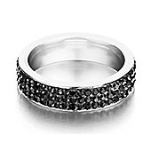 Shimla Ladies Black Stainless Steel Ring - SH122SM