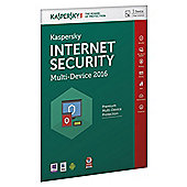 Kaspersky Internet Security 2016, Multidevice 1 Users 1 Year