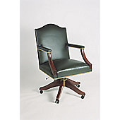 Curzon Gallery Collection Gainsborough High-Back Chair with Foam Interior - Green