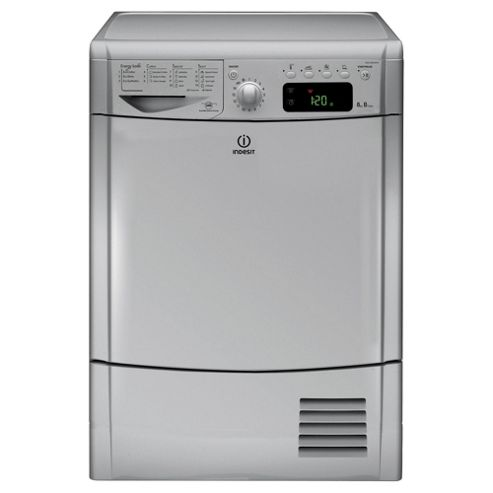 Indesit Ecotime Tumble Dryer, IDCE8450BSH, 8KG Load, Silver