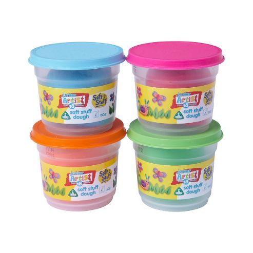 Soft Stuff 4 x 150g Doh Tubs - Bright Colours