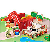 Teamson EverEarth 53 Piece Organic Farm Play Set