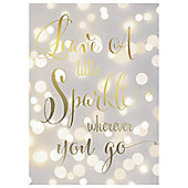 Leave A Little Sparkle Canvas 25X35