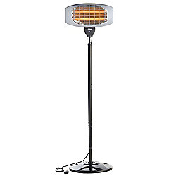 VonHaus 2000W Free Standing Electric Garden Patio Heater with 3 Heat Settings