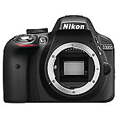 "Nikon D3300 Digital SLR, Black, 24.2MP, 3"" LCD Screen, Body Only"