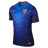 2014-15 Holland Away World Cup Football Shirt - Blue
