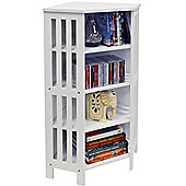 Mission - Corner Cd Dvd Blu-ray Media Storage Shelf Unit - White