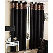 Enhanced Living Kensington Eyelet Leopard Curtains 117X183cm