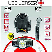 LED Lenser H3 Head Lamp and K2 Torch Gift Set