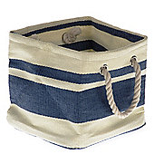 Wicker Valley Tobs Soft Storage New England Medium Square Bag in Blue